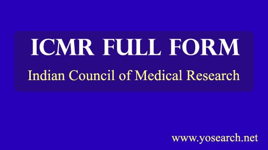 ICMR Full Form