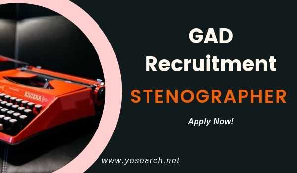 gad manipur stenographer recruitment