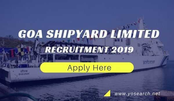 Goa Shipyard Recruitment