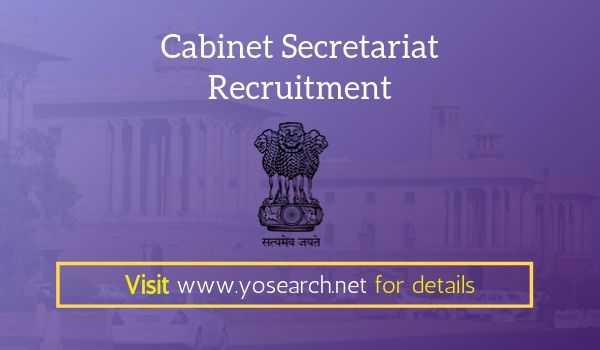 cabinet secretariat recruitment