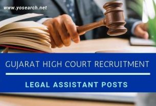 gujarat high court legal assistant recruitment