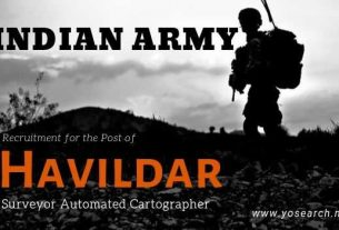 Indian Army Havildar Recruitment