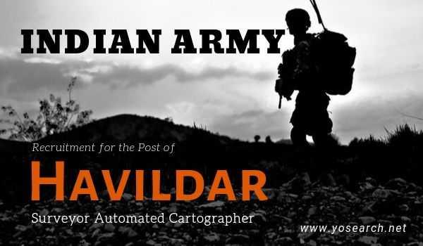 Indian Army Havildar Recruitment