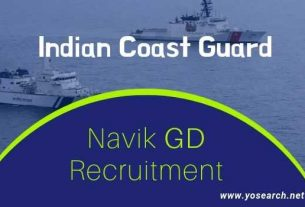 Indian Coast Guard Navik Domestic Branch Recruitment