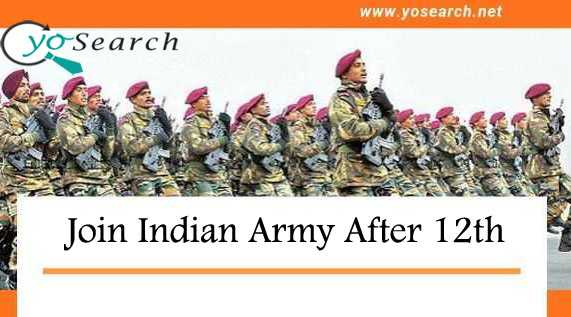 join indian army after 12th