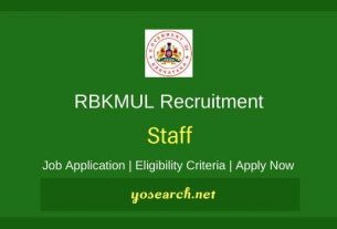 RBKMUL Recruitment