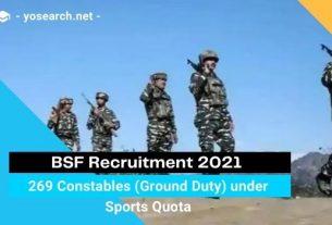 bsf constable recruitment 2021