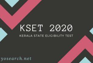 Kerala SET 2020