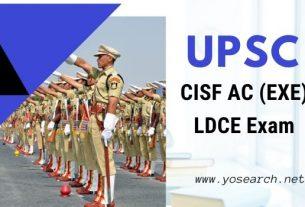 UPSC CISF AC EXE LDCE 2020