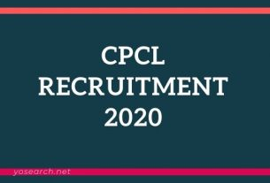 CPCL Apprentice Recruitment 2020