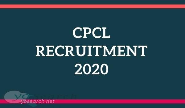 CPCL Apprentice Recruitment 2020