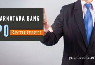 Karnataka Bank PO Recruitment 2020