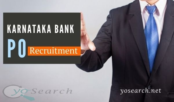 Karnataka Bank PO Recruitment 2020