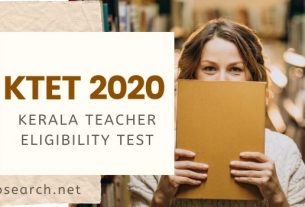 Kerala Teacher Eligibility Test (KTET) 2020