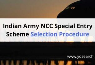 ncc special entry scheme selection procedure