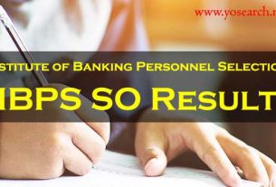 ibps so 2020 results