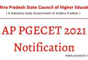 AP PGECET 2021 Notification