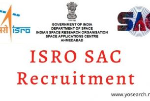 ISRO SAC Recruitment 2020