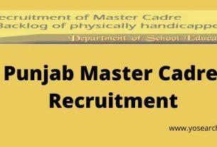 Punjab Master Cadre Recruitment
