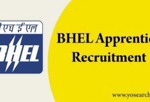 bhel apprentice recruitment