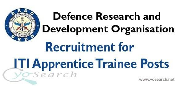 drdo recruitment iti apprentice trainee