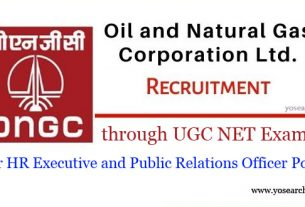 ongc recruitment through ugc net exam