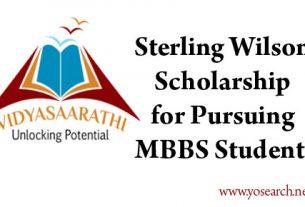Vidyasaarathi Sterling Wilson Scholarship