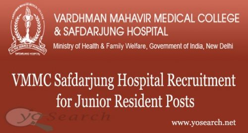 VMMC Safdarjung Hospital Recruitment