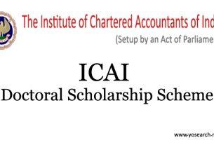ICAI Doctoral Scholarship Scheme