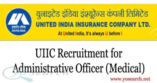 UIIC Recruitment 2020 for Administrative Officer