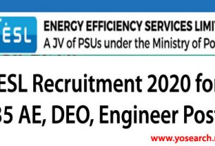 EESL Recruitment 2020