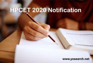hpcet 2020 notification