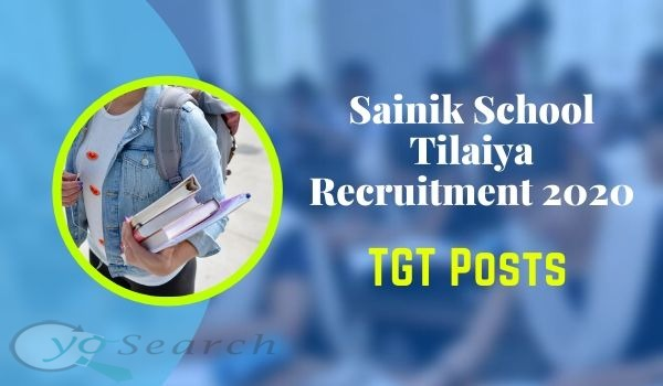 sainik school tilaiya recruitment