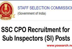 ssc cpo recruitment