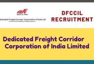 DFCCIL Jobs Recruitment 2020