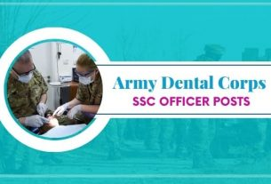 Indian Army Dental Corps Recruitment 2021