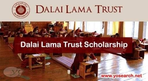Dalai Lama Trust Scholarship 2020