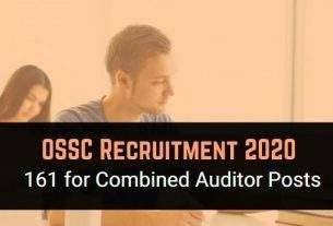 OSSC Auditor Recruitment 2020