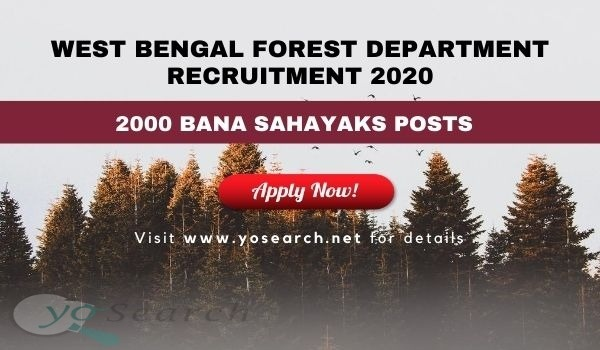 West Bengal Forest Department Recruitment 2020