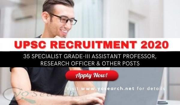 upsc assistant professor 2020