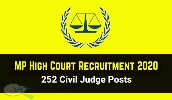 MP High Court Civil Judge Recruitment 2020