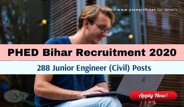 PHED Bihar Junior Engineer Recruitment 2020