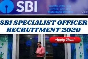 SBI Specialist Officer Recruitment 2020