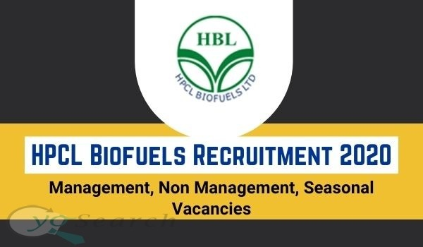 HPCL Biofuels Recruitment 2020