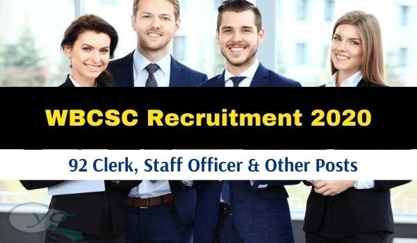 WBCSC Recruitment 2020