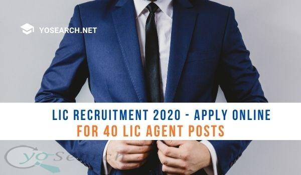 LIC Agent Recruitment 2020
