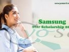 Samsung Star Scholarship 2020