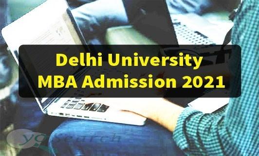 DU MBA Admission 2021