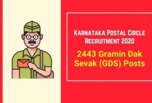 Karnataka Postal Circle Recruitment 2021