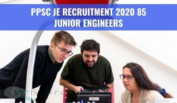 PPSC JE Recruitment 2020